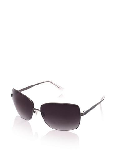 Judith Leiber Women's JL1573B 00 Channel Square Sunglasses (Hematite/Smoke)