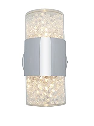 Access Lighting Kristal 2-Light Wall Sconce, Chrome/Clear