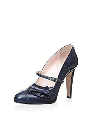 RED Valentino Women's Cap Toe Pump with Strap