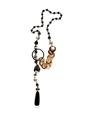 Alibey Accesorios Halskette  schwarz/beige