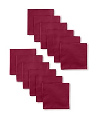 Garnier-Thiebaut Set of 12 Confetti Napkins, Raspberry