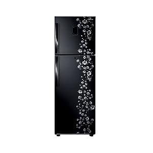 Samsung 345L 5 Star RT36FDJFABX/TL Double Door Refrigerator-Orcherry Peach Black