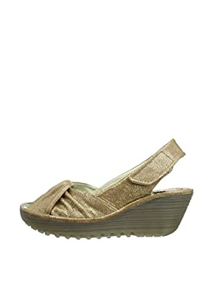 Fly London Sandalias Wedge (Camel)