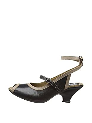 Fly London Zapatos destalonados Fall (Negro / Beige)