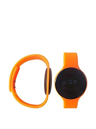 Bluetooth Smartwatch with Silicone Strap, Orange