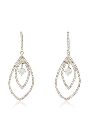 ANDREA BELLINI Ohrringe Brillant Encerclé Majestueux Sterling-Silber 925