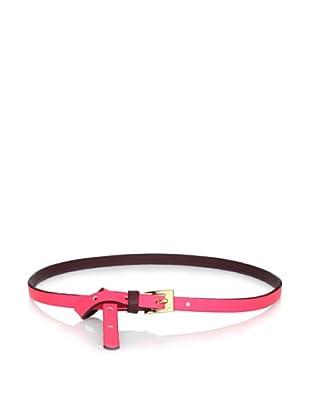 Gorjana Women's Colorblock High Waist Belt (Neon Coral/Burgundy)