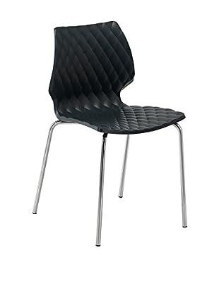 Metalmobil Stuhl 2er Set Uni-550 schwarz