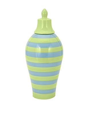 Large Savannah Striped Vase, Blue/Green
