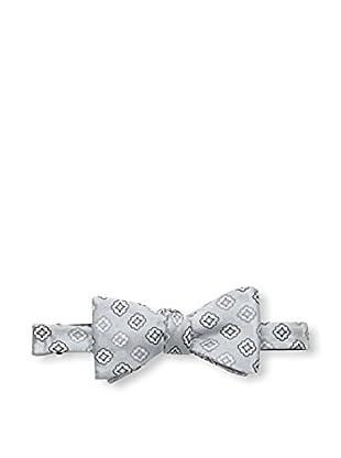 Bruno Piattelli Men's Medallion Bow Tie, Silver