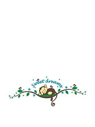 Ambiance Sticker Wandtattoo Monkeys Sweet Dreams