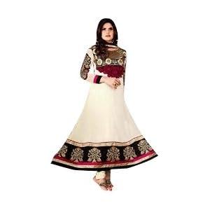VandV-New Collection Buy Zarine Khan Designer White Anarkali Suit