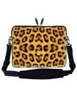 Meffort Inc 17 17.3 inch Laptop Sleeve Bag Carrying Case with Hidden Handle and Adjustable Shoulder Strap - Leopard Prints Design