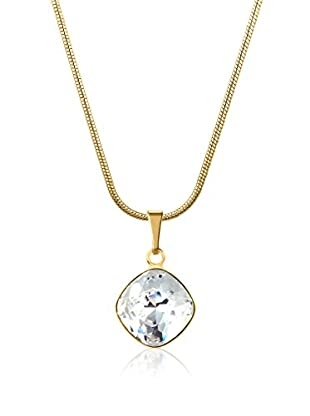 Swarovski Elements by Philippa Gold Halskette Rounded Square Crystal