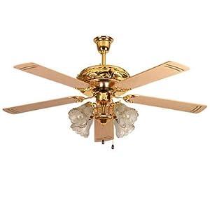 Khaitan Casanova A74 52 Inch Under Light Ceiling Fan - Dazzling Gold