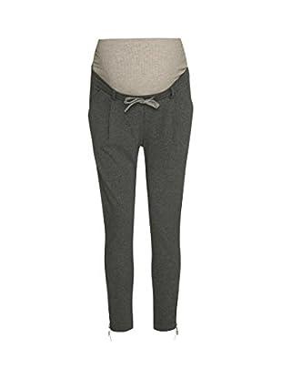 Bellybutton Maternity Damen Umstandshose Hose, Grau (Middle Gray Melange|Gray 8500), W32 (Hersteller
