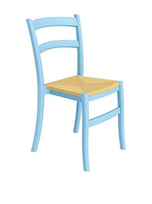 Officine Fiam Stuhl 2er Set Tiffany S himmelblau/beige