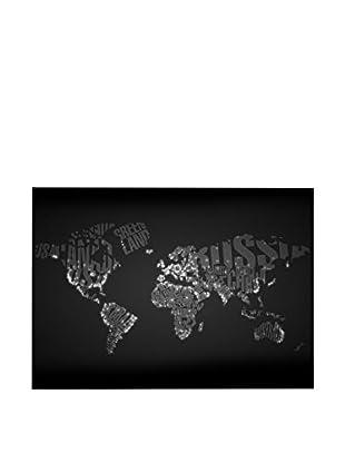 Lienzo Night Typo Worldmap