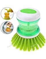 And Retails Cleaning Brush With Liquid Soap Dispenser, Self Dispensing Cleaning Brush (Colours As Per Availability)