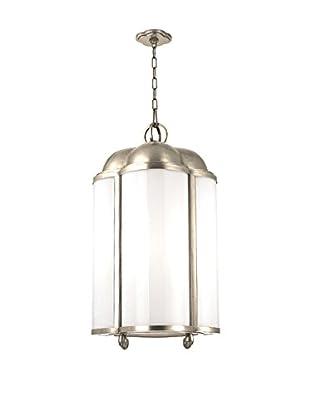 Hudson Valley Lighting Berkshire 4-Light Pendant, Polished Nickel/Clear/White