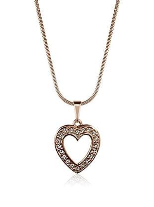 Annie Ram Collar Solid Strass Heart Metal Rosado