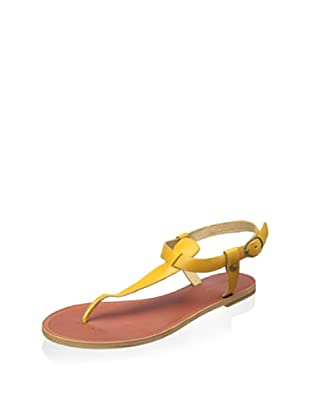 Matiko Women's Meli Flat Thong Sandal (Yellow)