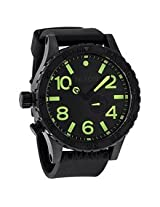 Nixon 51-30 Tide Black Dial Black Pvd Mens Watch A0581256