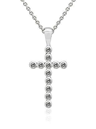 Saint Francis Crystals Halskette mit Anhänger Made With Swarovski® Elements silberfarben