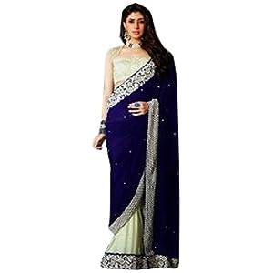 Talreja Sarees Bollywood Replica Saree - Blue
