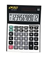 Gold Leaf Check and Correct Electronic Calculator 12 Digits CH 417