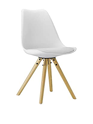 LO+DEMODA Set Silla 2 Uds. Star Tulip Blanco