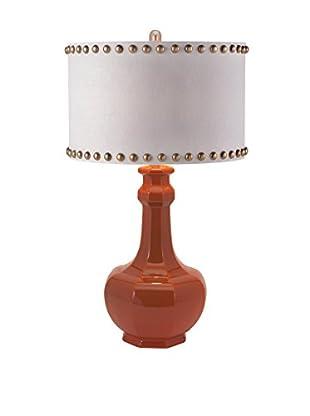Essentials Energetic Ceramic Table Lamp, Red