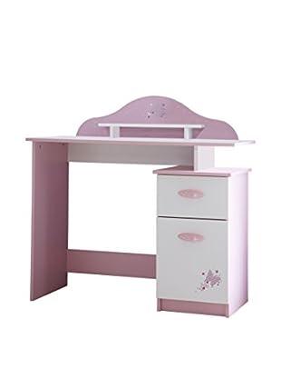 13 Casa Schreibtisch Lilly 7 weiß/rosa