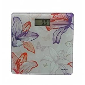 Venus SVAS-107 Thick Glass Printed Weighing Scale(Digital), Glass ( Cream, 11x11 inches )