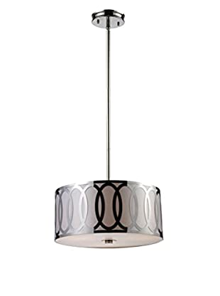 Artistic Lighting Anastasia 3-Light LED Pendant, Polished Nickel