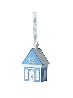 Wedgwood Bless This Home Ornament, Blue