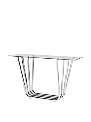 Zuo Modern Fan Console Table, Chrome