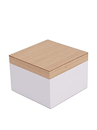 Wolf Designs Small Lacquer Wood Jewelry Box, White