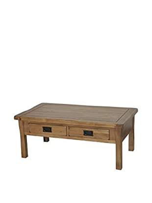 Gallerie Décor Oakdale 4-Drawer Coffee Table, Natural Oak