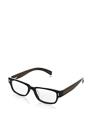 Ivory + Mason Women's Olympic Eyeglasses, Black/Walnut