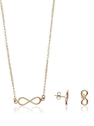 Silver One Conjunto de cadena, colgante y pendientes PJUEGO1127B
