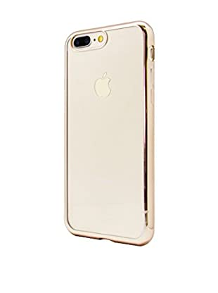 UNOTEC Funda TPU Gel iPhone 7 Plus Color Frame Dorado