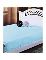 Expressionhome Nonwoven Single Mattress Protector Set Of 2 (Blue ,184 x 91.44 x 12.7 cm)