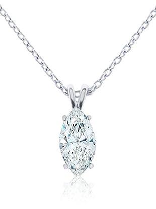 Diamond Style Set Halskette und Anhänger Marquise