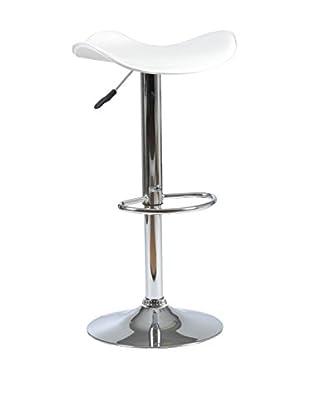Eurostyle Fabia Adjustable Bar/Counter Stool, White
