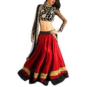 Narayani Bollywood Replica Lehenga - Red & Black