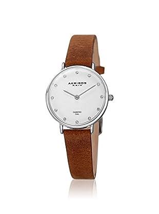 Akribos XXIV Women's AK882SSBR Velvet Brown Leather Watch