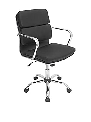 LumiSource Bachelor Office Chair, Black