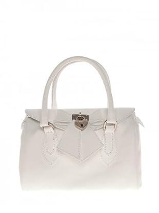 Elysa Satchel-Bag mit Schleifendetail (Weiß)