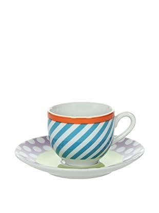 Tognana  Kaffeetasse mit Untertasse 6er Set Olimpia Cleo mehrfarbig